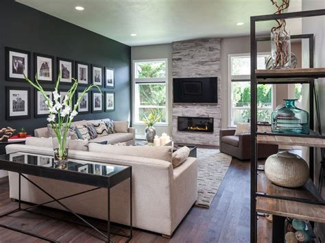 rustic contemporary living room modern masculine home with rustic industrial touches iverson hgtv