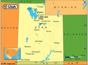 Utah Map With Cities by Utah Map