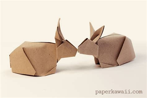 Paper Folding Rabbit - origami bunny rabbit tutorial paper kawaii