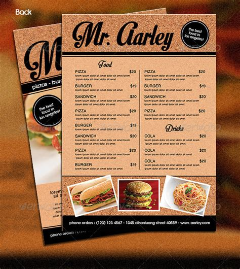 Food Menu Template 36 Free Word Pdf Psd Eps Food Menu Template Free