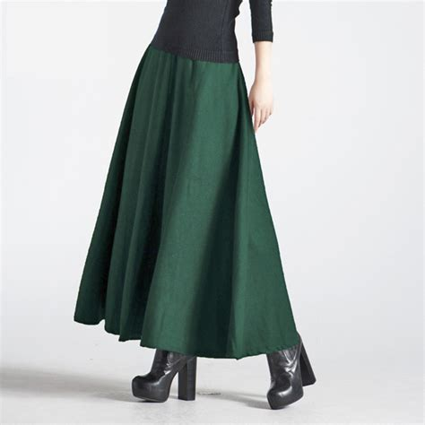 2015 fall winter wool skirt high waised fashion
