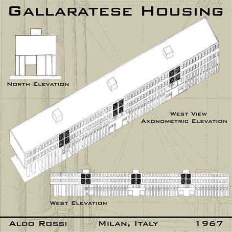 aldo rossi gallaratese housing arch week pinterest art