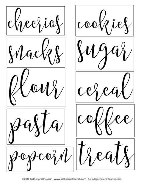 printable food fonts free printable pantry labels pantry labels labels free