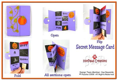 how to make a secret message card crafting with suer secret message card