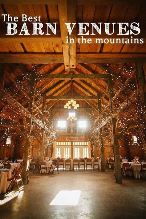 Best Barn Wedding Venues in the Mountains via
