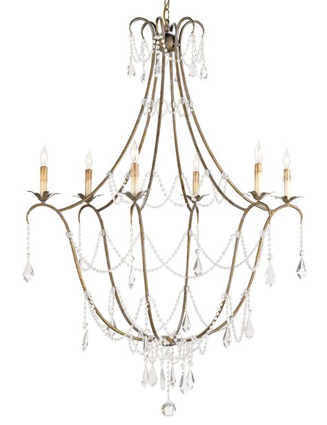 Currey And Company 9048 Crystal Elizabeth Six Light Chandelier Curry And Company Chandeliers