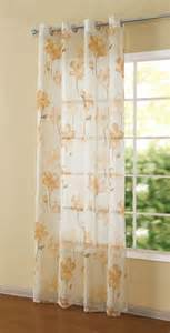 Curtain Linings 90 X 90 Lemon Colour Readymade Eyelet Light Net Voile Curtain