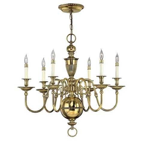 Brass Chandelier High End Classic 6 Arm Brass Chandelier