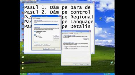 xp tutorial romana cum sa bagi limba romana pe windows xp fara programe youtube