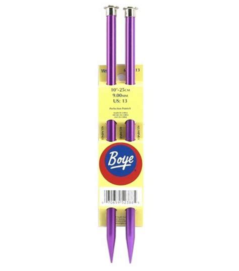 boye knitting needles boye single point aluminum knitting needles 10 quot size 13 at
