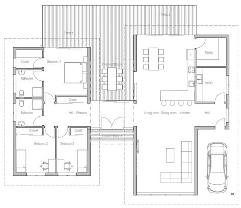 modern open floor house plans floor plan friday 3 bedroom modern house with high