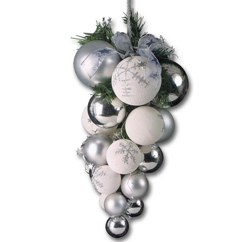 silver christmas decorations png www pixshark com