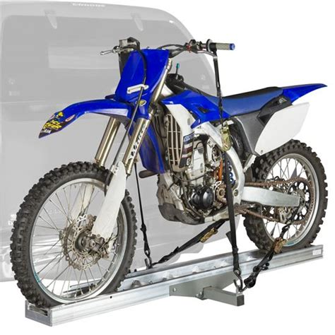 Dirtbike Rack by Hitch Mounted Aluminum Motorcycle Dirt Bike Carrier