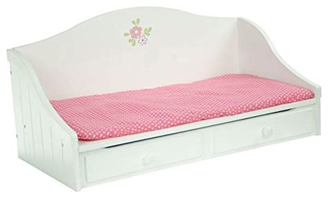 olivia dollhouse bed olivia s little world princess white troundle bed wooden 18 inch doll