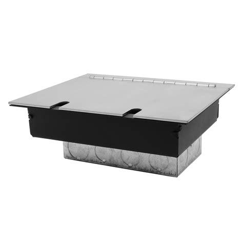 Recessed Floor Box by Recessed Floor Box 2 Recessed Floor Box Satin