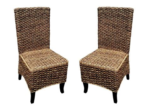 Woven Dining Chairs Seagrass D Seagrass Dining Chair 2pcs Ebay