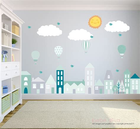 City Wall Decals Wall Decals Nursery Baby Wall Decal Kids Nursery Wall Decals For
