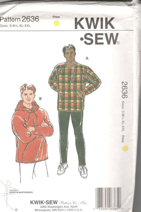 sewing pattern mens leggings kwik sew 2636 mens pullover top and leggings pattern hoodie