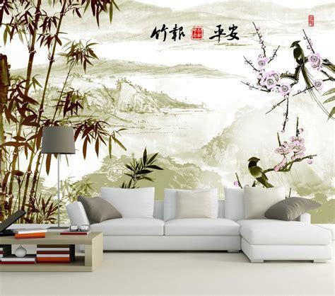 Papier Peint Paysage Mural by Papier Peint Chinois Paysage Avec Les Bambous Et Les