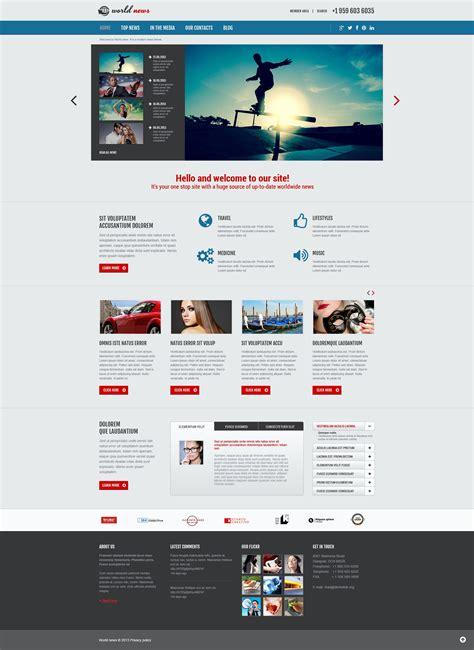 template joomla portal news news portal responsive joomla template 48961