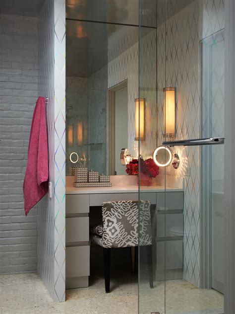 The Brick Vanity Table Inspired Lighted Makeup Mirror In Bathroom Modern With Makeup Vanity Next To Makeup Table