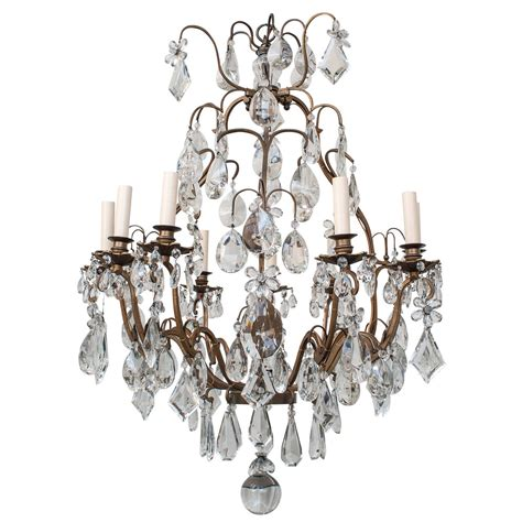 Chandelier Frame Louis Xv Style 9 Light Chandelier With Bronze Frame Italy At 1stdibs