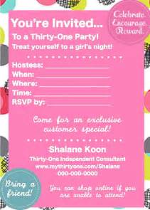 items similar to thirty one invite on etsy