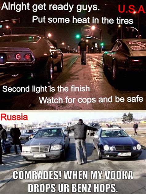 street racing usa vs russia