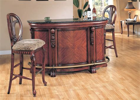 granite top bar liberty traditional granite top serving bar cherry finish