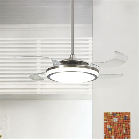 ceiling fan with pendant light fanaway retractable blade ceiling fan pendant
