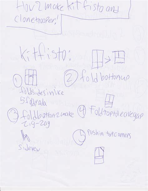 How To Make Origami Kit Fisto - kit fisto part 1 origamiyoda