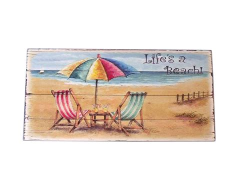 beach signs home decor wooden chair and umbrella sign 10 nautical wall decorations wooden home signs ebay