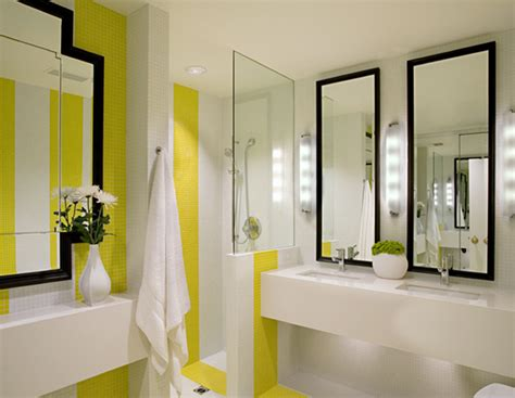 white and yellow bathroom contemporary bathroom nb