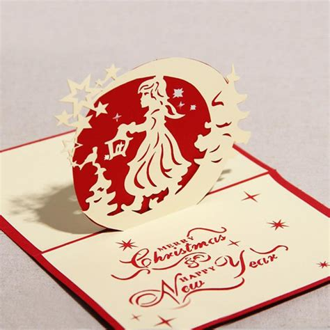 Merry Pop Up Card Template by 3d With Design Handmade Creative