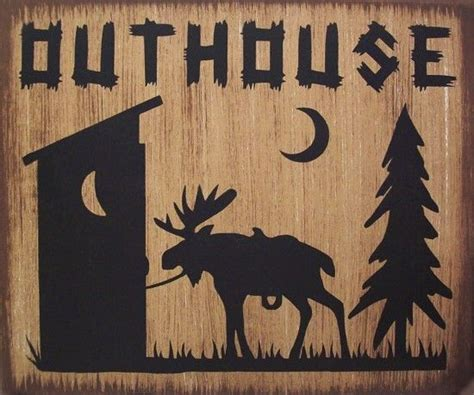 outhouse moose lodge cabin primitive country distressed
