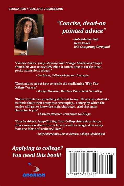 Concise Advice Jump Starting Your College Admissions Essays by College Admissions In The United States Steps For