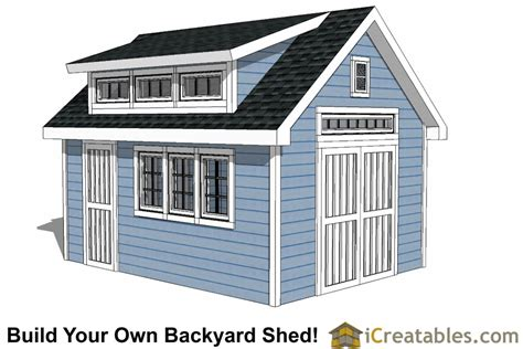 14x16 shed plans with dormer icreatables 10x16 shed plans with dormer icreatables
