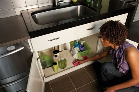 under sink water protection protect cabinet base under sink from water damage