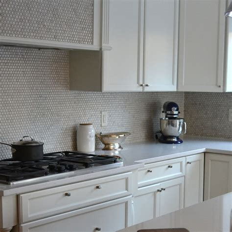 penny tile kitchen backsplash white kitchen subway tiles with white grout transitional