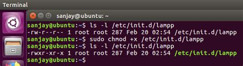 tutorial chmod ubuntu how to start xampp automatically in ubuntu linux