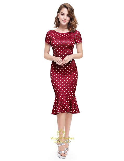 Sleeve Polka Dot Dress polka dot mermaid sleeve sheath casual summer dress