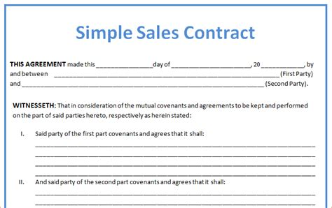 3 sales contract templatereport template document