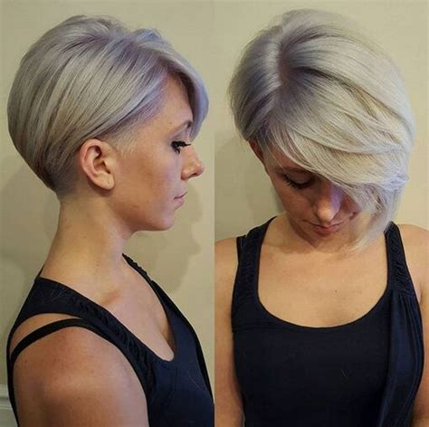shaved hairstyles with long bangs oltre 1000 immagini su capelli corti su pinterest short