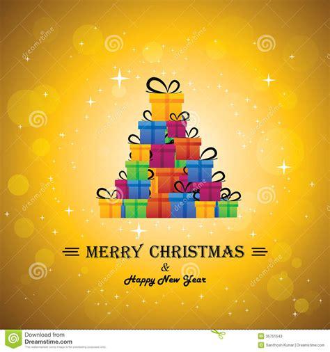 christmas festive celebrations  gift boxes  xmas tree stock  image