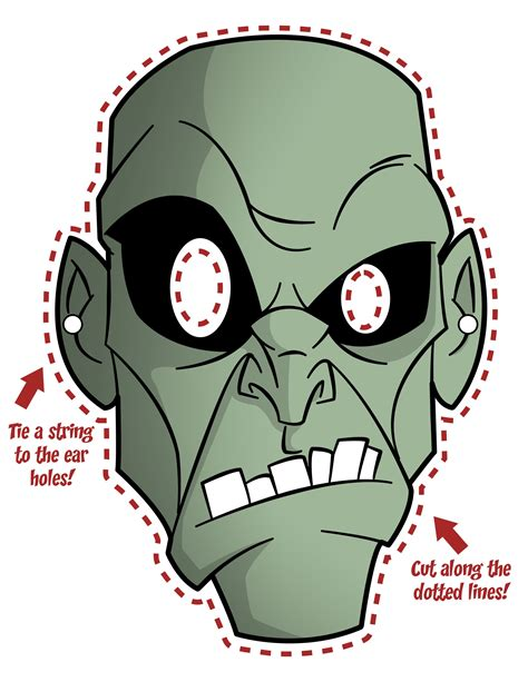 Printable Zombie Masks | zombie mask jpg 2550 215 3300 halloween pinterest