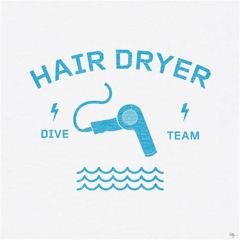 Hair Dryer Logo hair dryer dive team logo design