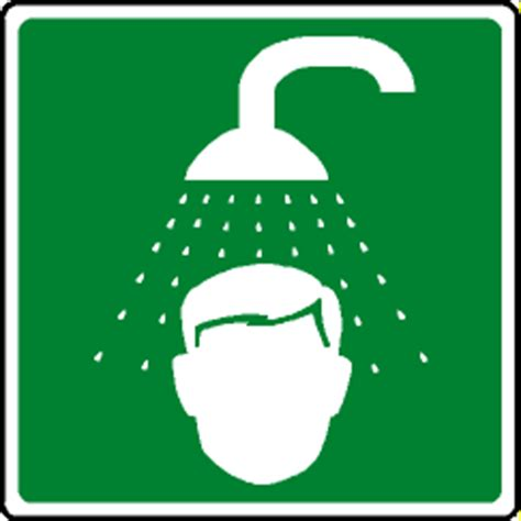 Can You Take A Shower With Contacts by Emergency Signs And Symbols Clipart Best