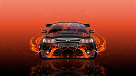 orange cars 2016 171 nissan gloria jdm tuning front fire flame abstract car