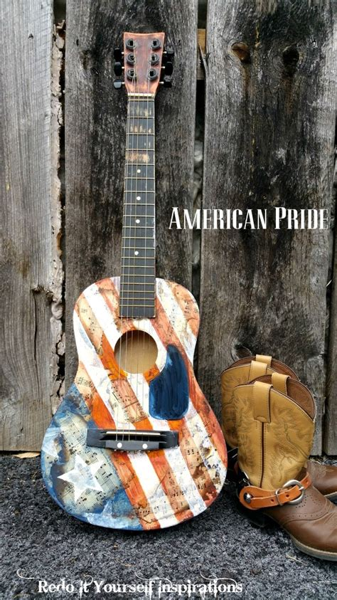 upcycled guitar americana style bedroom ideas crafts