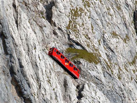 pilatus cremagliera mt pilatus cog railway near lucerne switzerland hobo